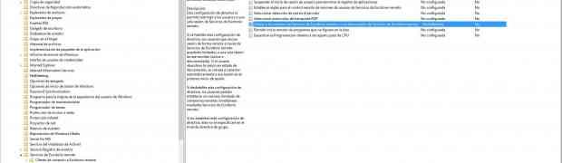 Sesiones de Escritorio Remoto en Windows 2012