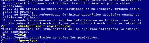 Avast antivirus - Línea de comandos