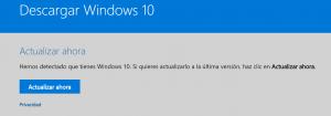 Javier Mendiburu | Imagen web Microsoft para actualizar Windows 10